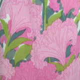 Vintage 60s Tropical Print Sheath Dress, close up