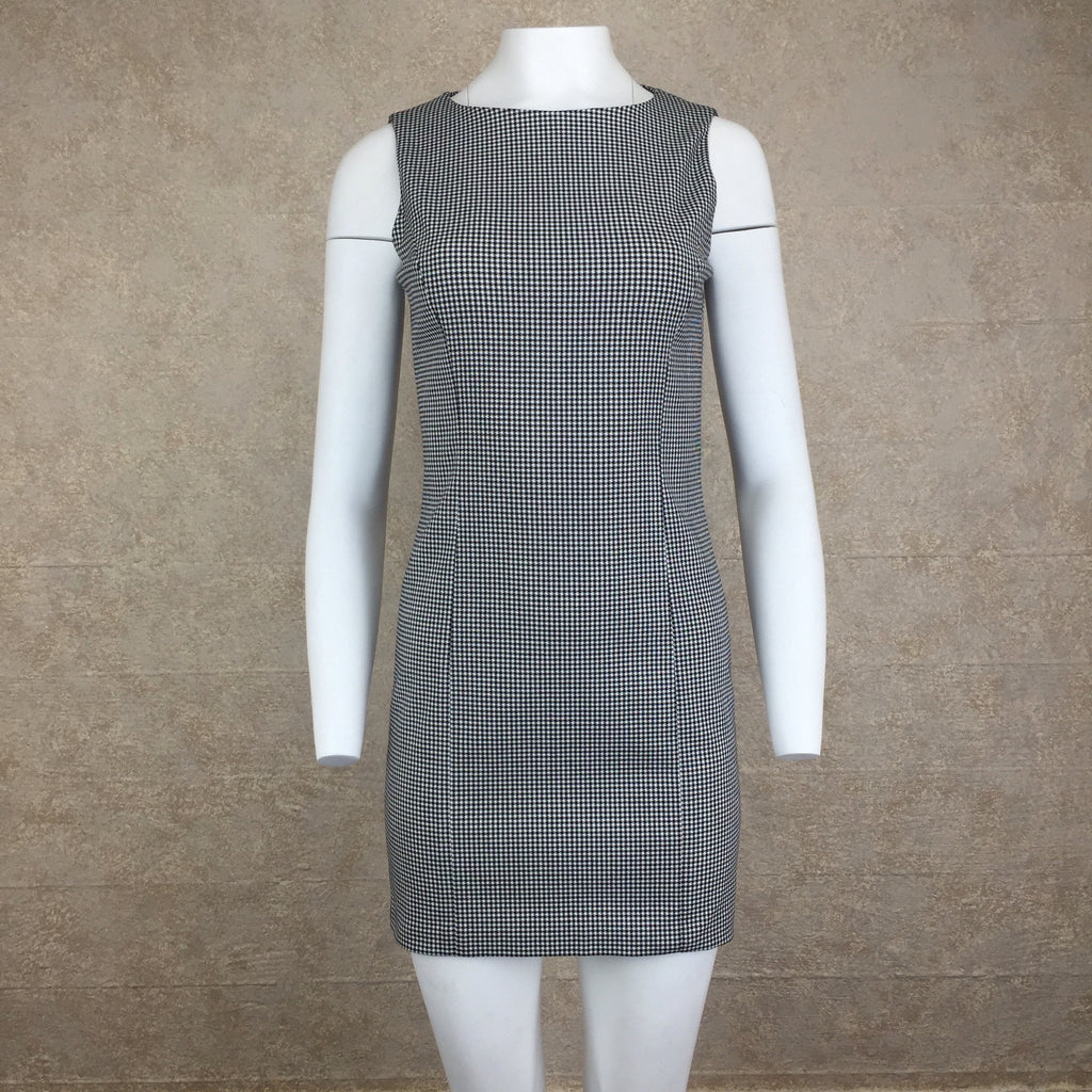 2000s CATALYST Check Sheath Dress, Front