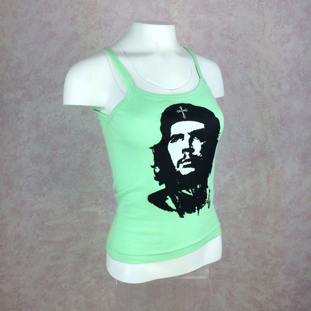2000s A + G Che Guevara Lime Green Tank Top, Side