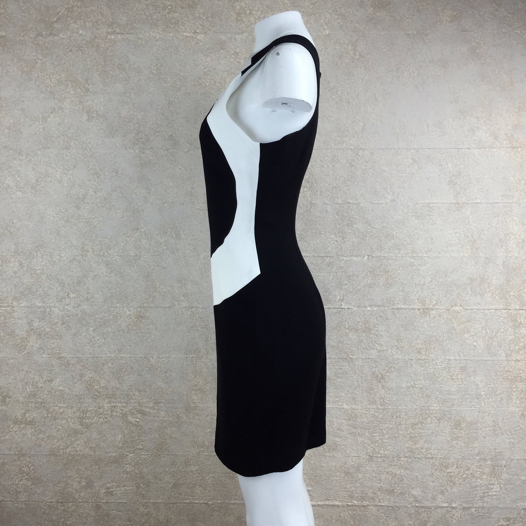 2000s Nicole Miller Color Block Dress, side 2