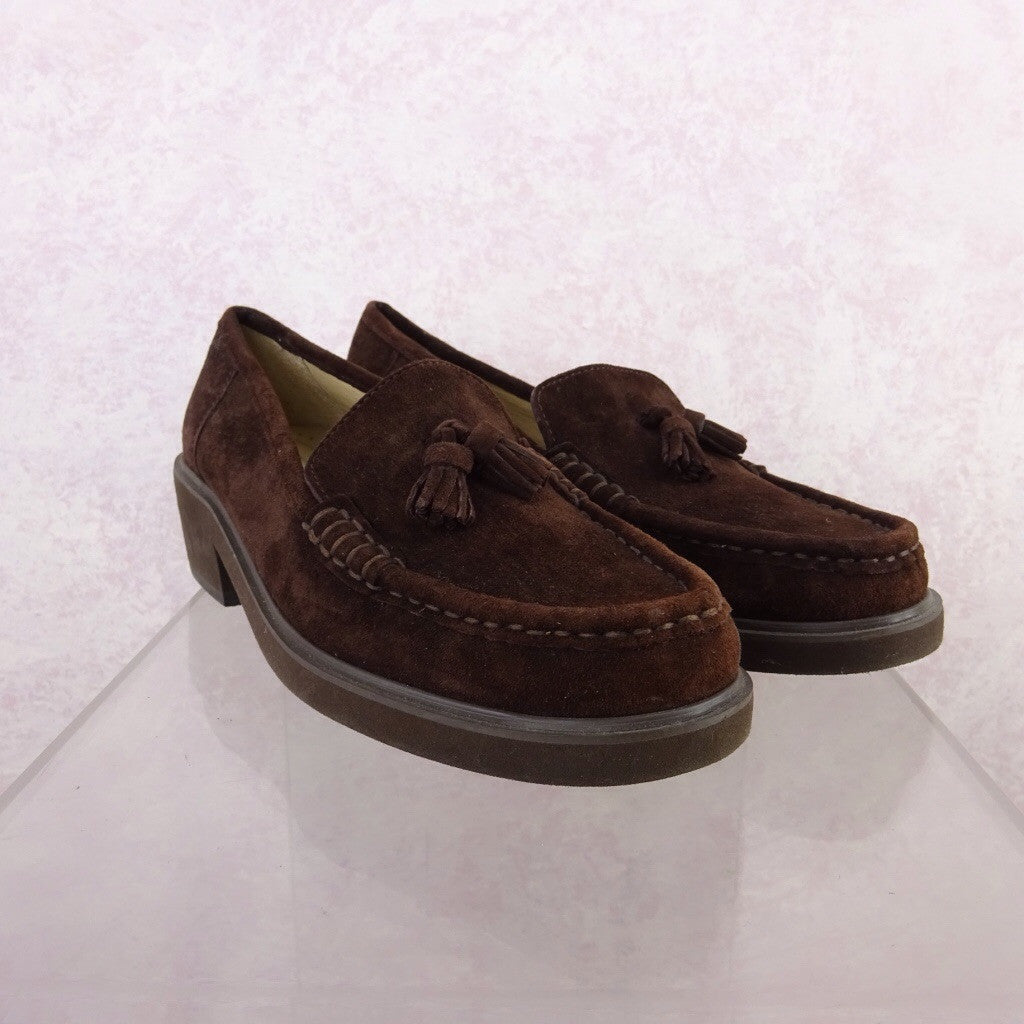 2000s Brown Suede Classic Loafers fdv