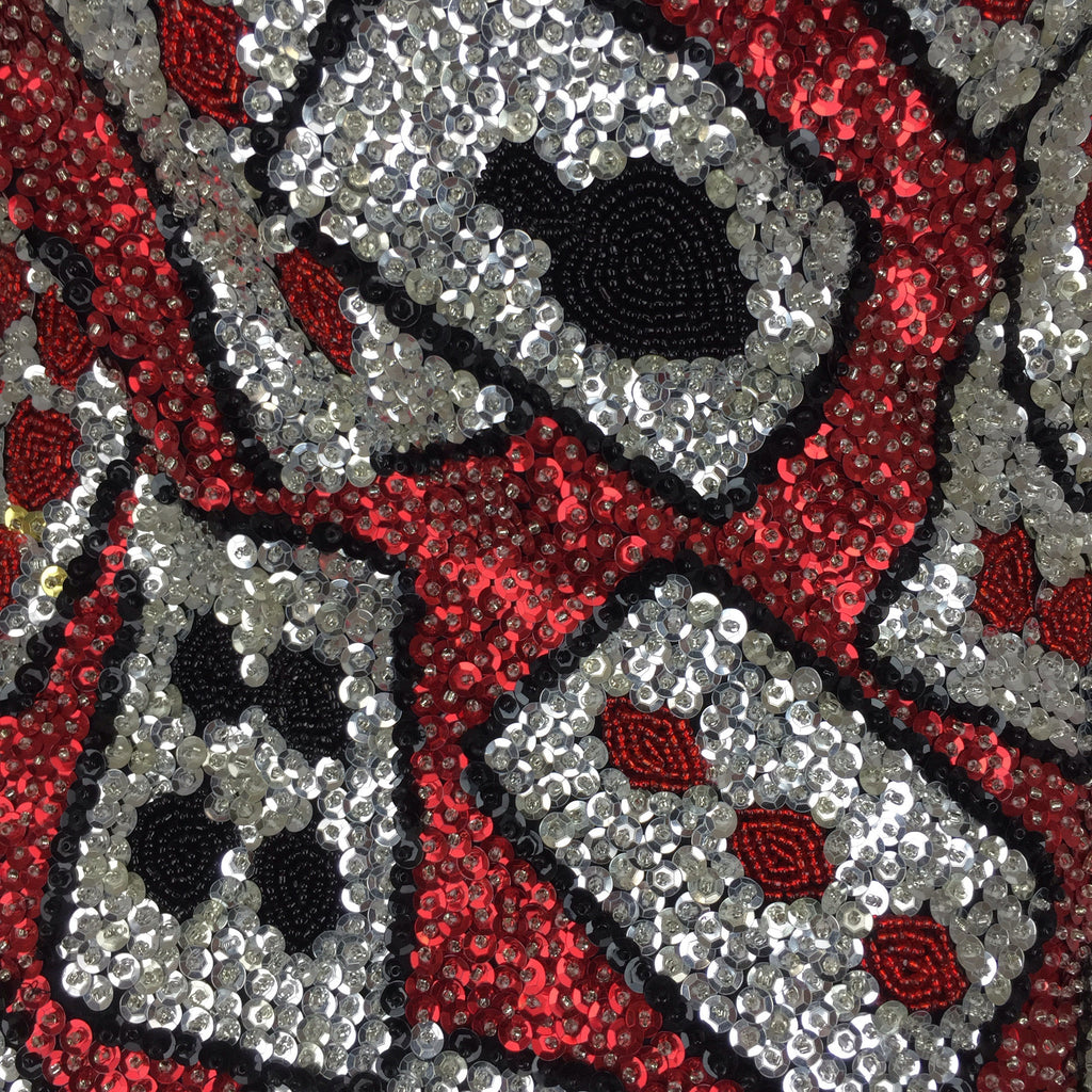 2000s Solid Sequin Playing Cards Tank Dress, Detail