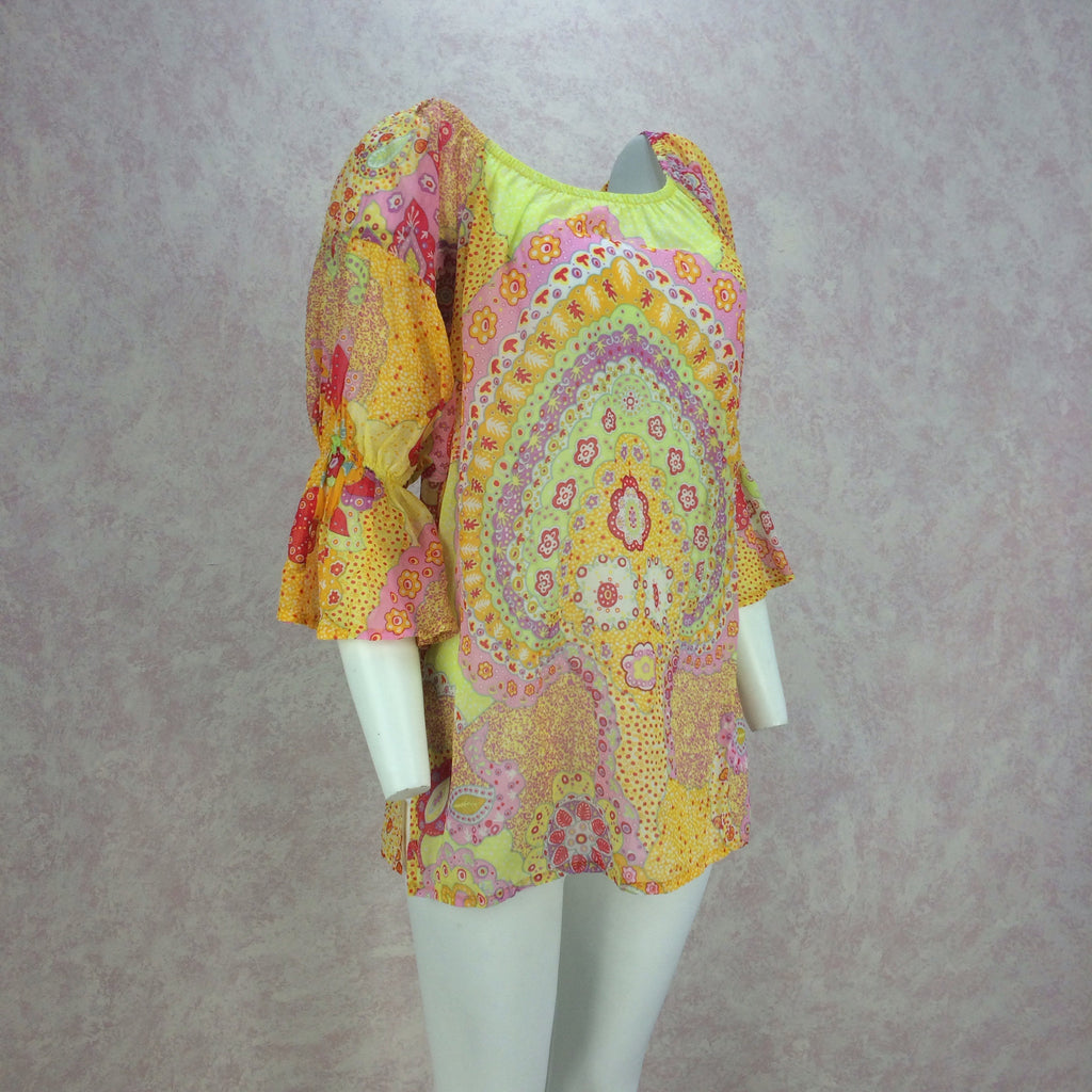 2000s La Perla Printed Cotton Tunic, Side