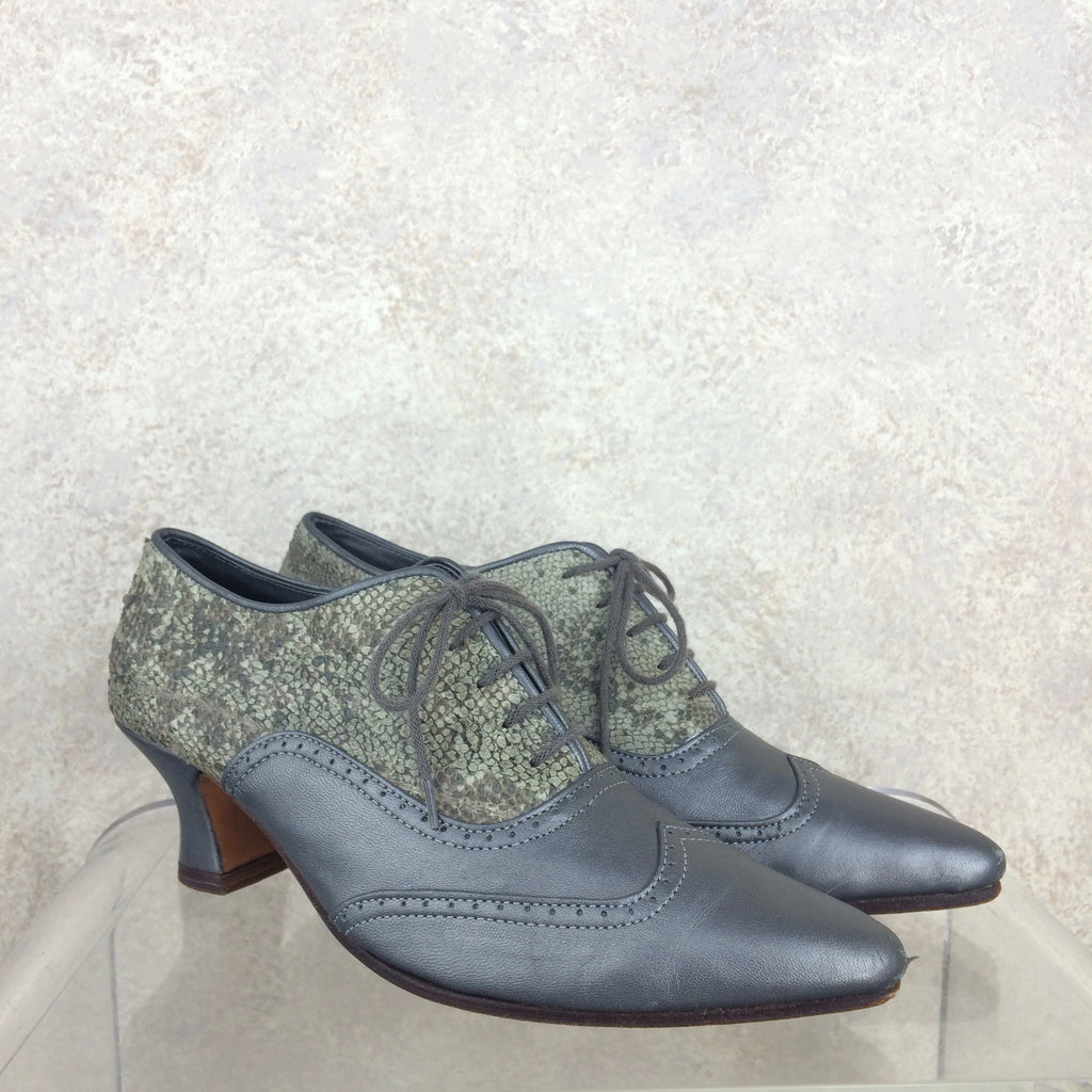 Vintage 90s Pewter Oxford Shoes, s