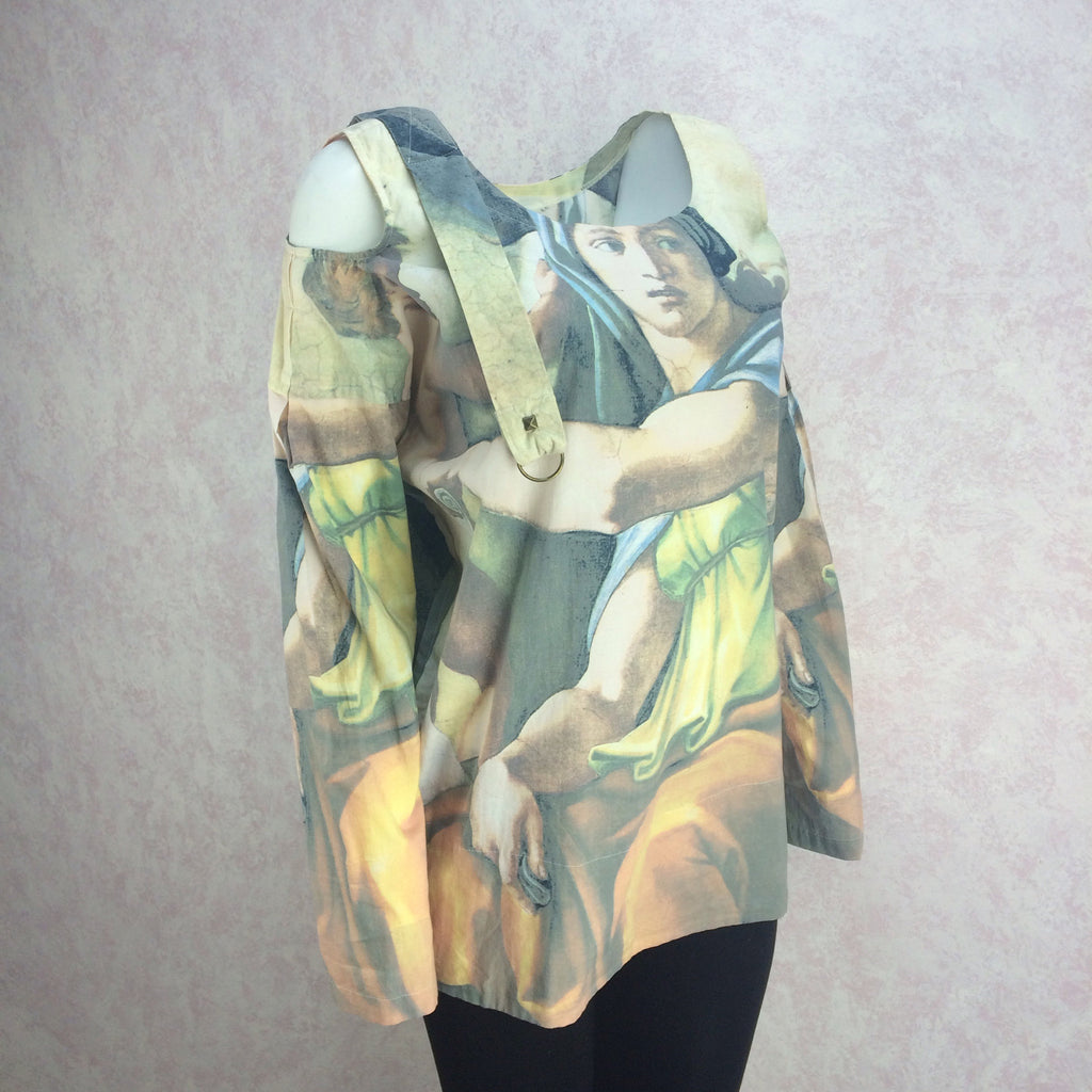 2000s Cotton Tunic w/Masterpiece Print, Side