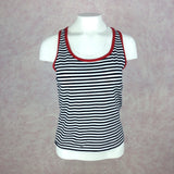 2000s DKNY Striped Tank Top w/Racer Back, Front