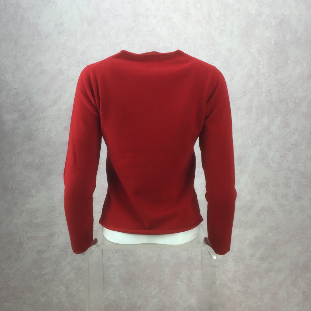 2000s Cashmere Pullover w/Motor Scooter back