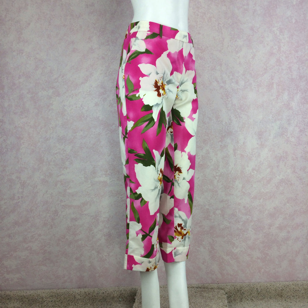 2000s CACHAREL Pink Bold Floral Print Pants, Side