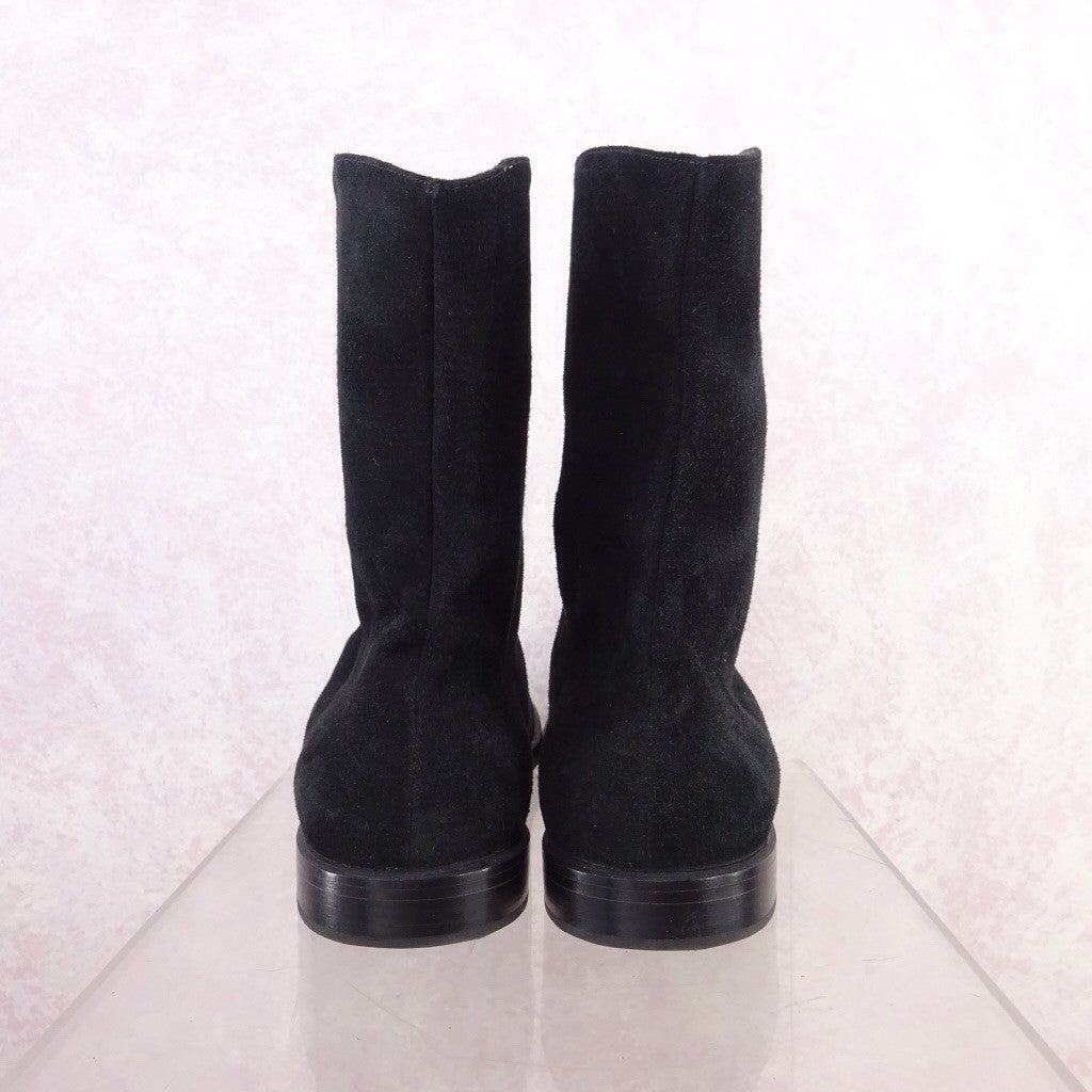 2000s Short Suede Boots w/Lace-Up f