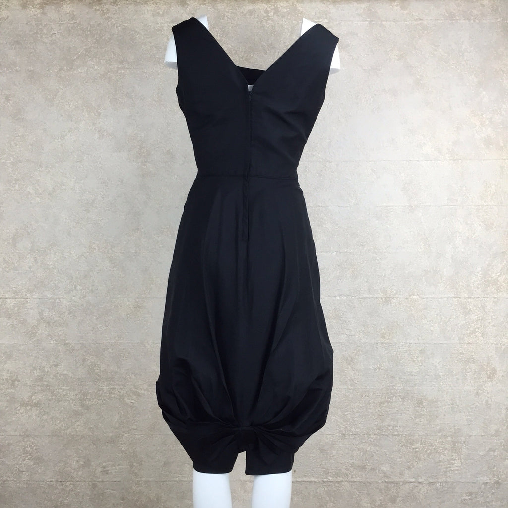 Vintage 60s Bubble Swag Cocktail Dress, Back