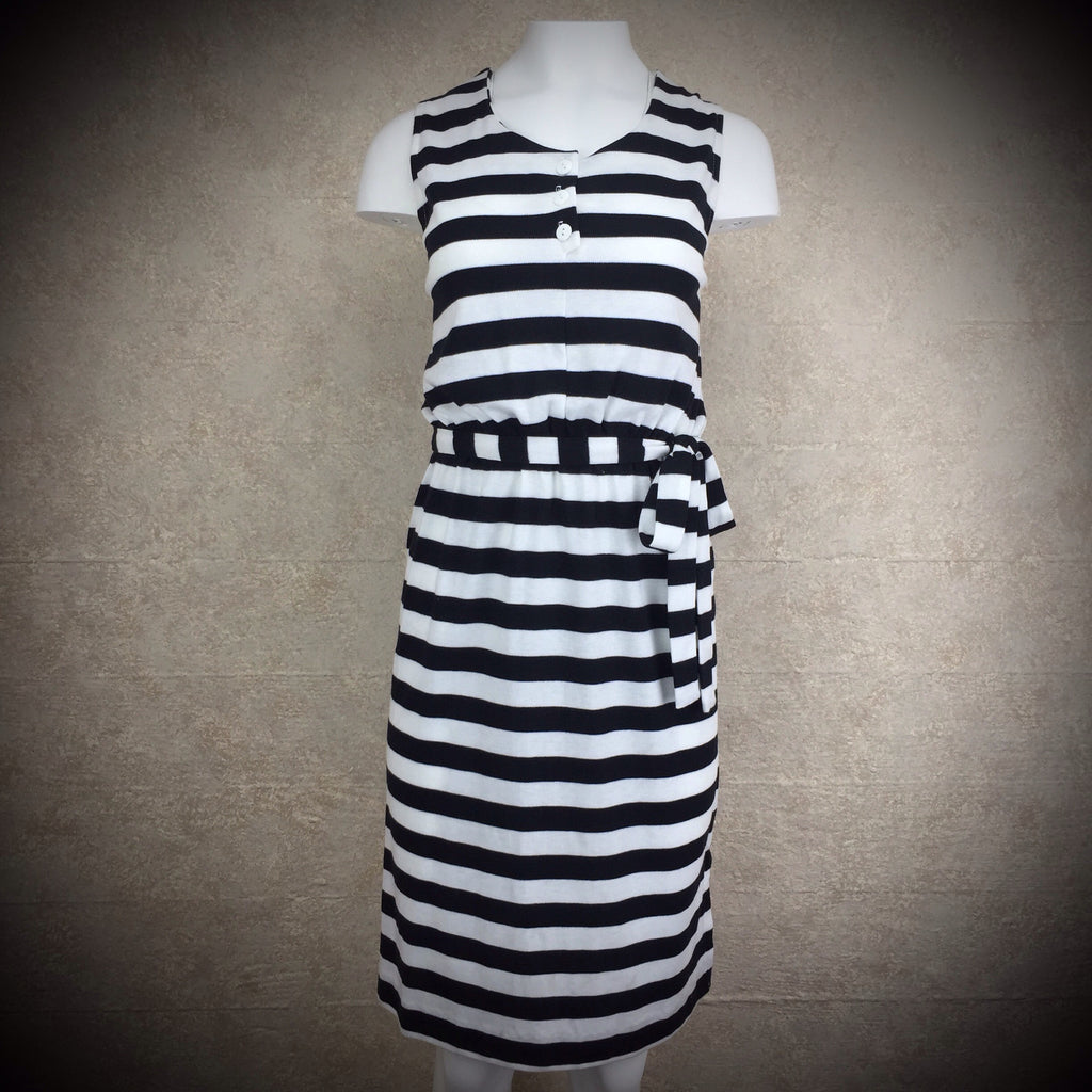 2000s FREDERICK'S Cotton Striped Knit Dress, NOS