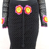 2000s Crochet Outfit w/Crochet Flower Accents qwerff