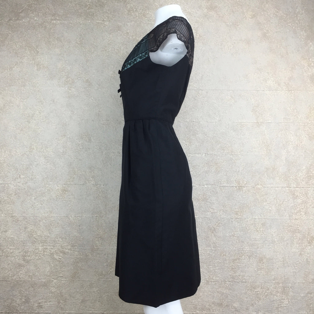 Vintage 60s Sexy Silk Sheath Cocktail Dress, Side 2