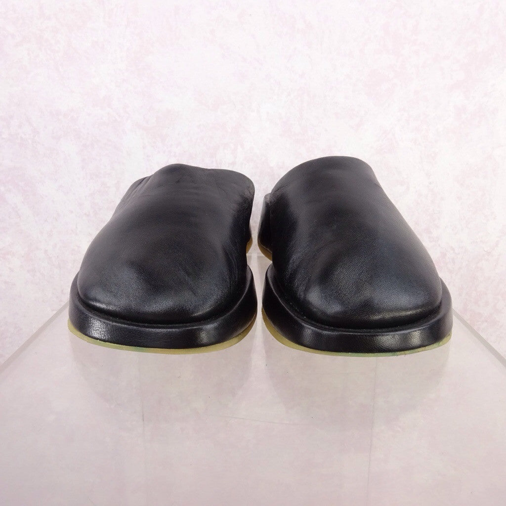 2000s Leather Wedgie Slip Ons c
