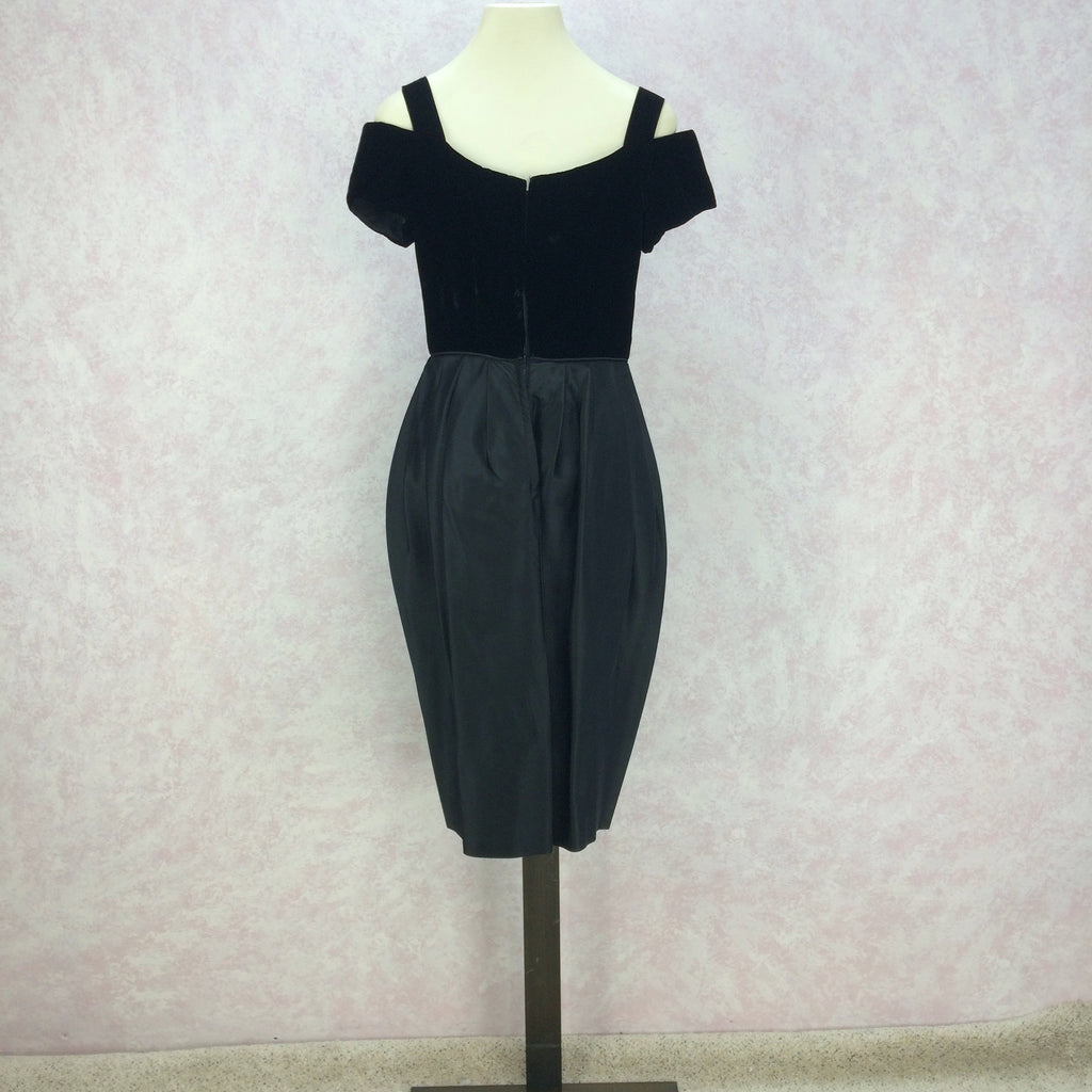 Vintage 60s Tulip Bubble Skirt Cocktail Dress b