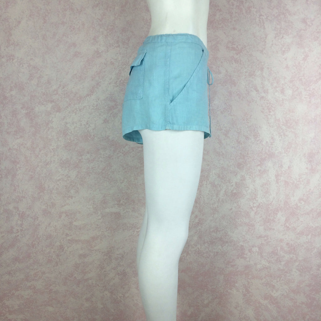 2000s JUICY COUTURE Linen Teal Shorts s