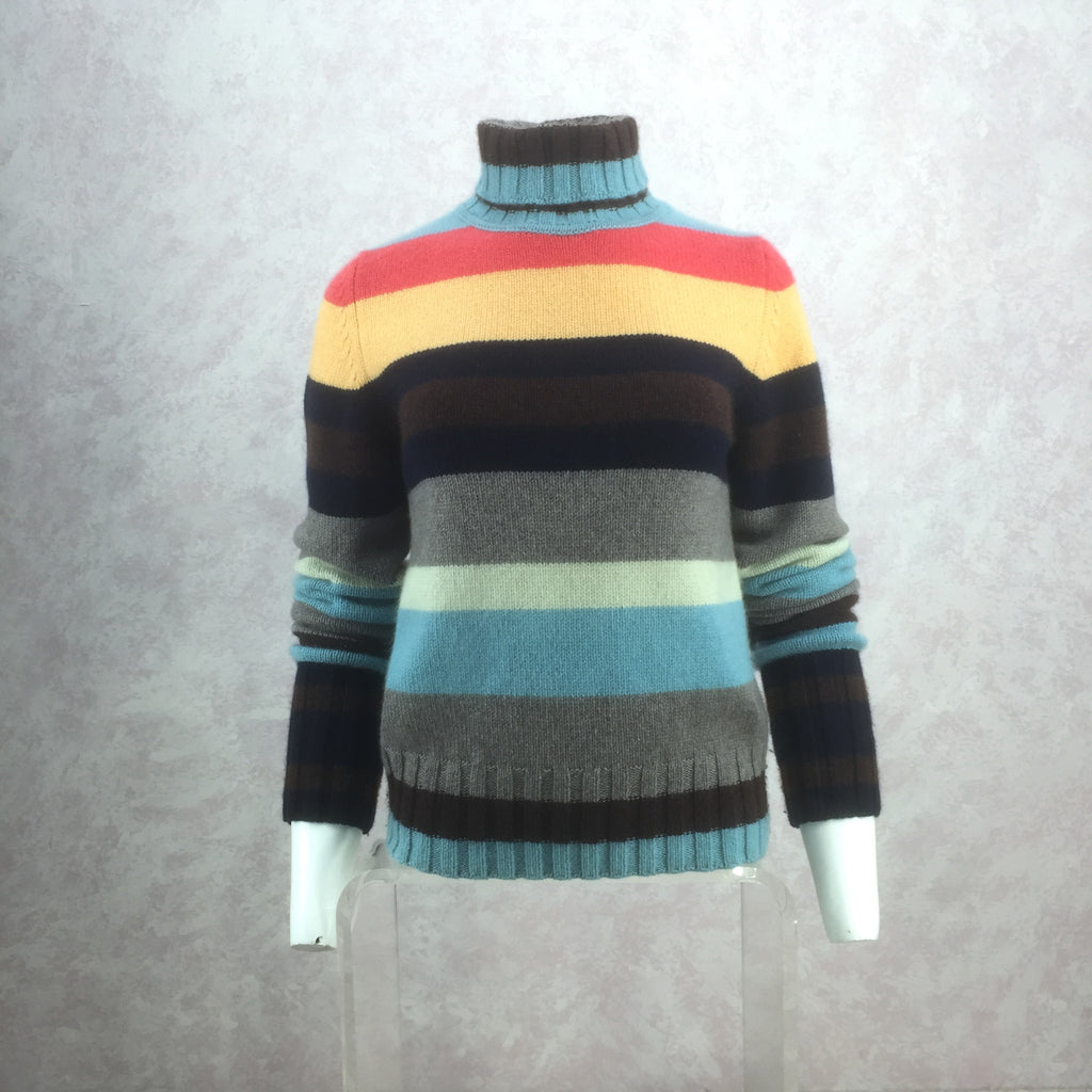 2000s Cashmere Color Blocked Sweater front