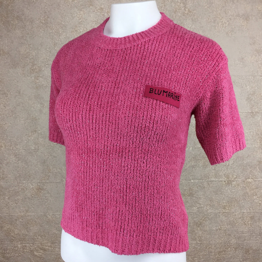 Vintage 90s BLUMARINE Chenille Knit Top, Side