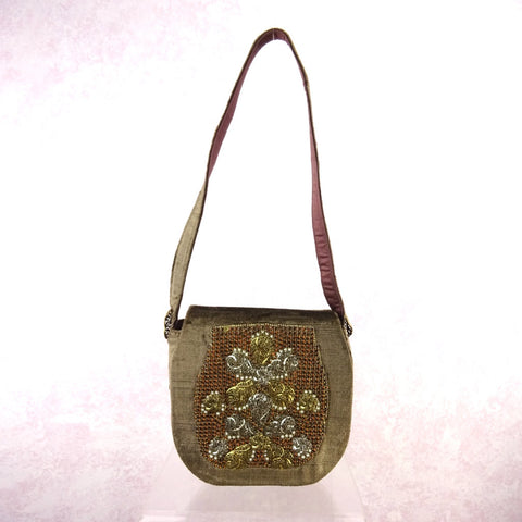 "Vintage 90s ""Doggie"" Bag, Folk Art, NOS"