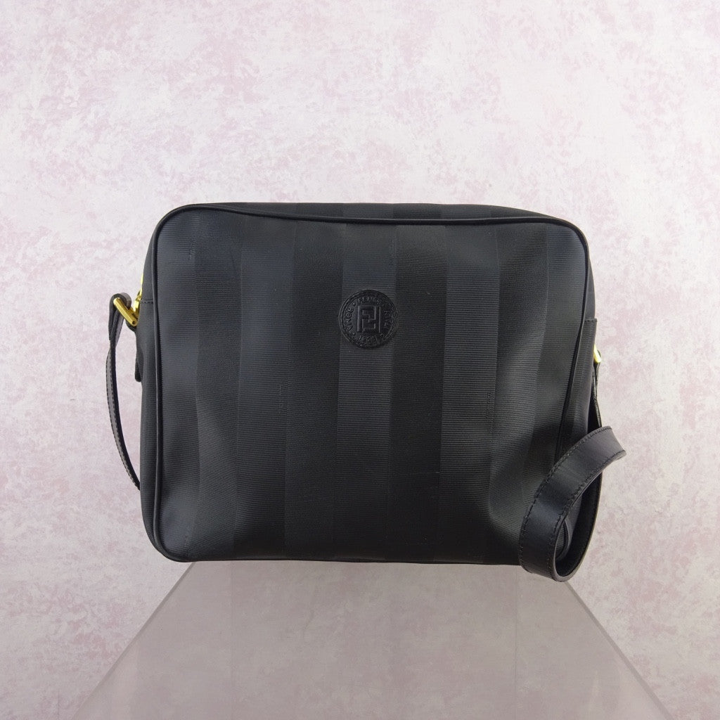 Vintage 90s FENDI Textured Vinyl Large Shoulder Bag – Voguely ... 56229dc730a74