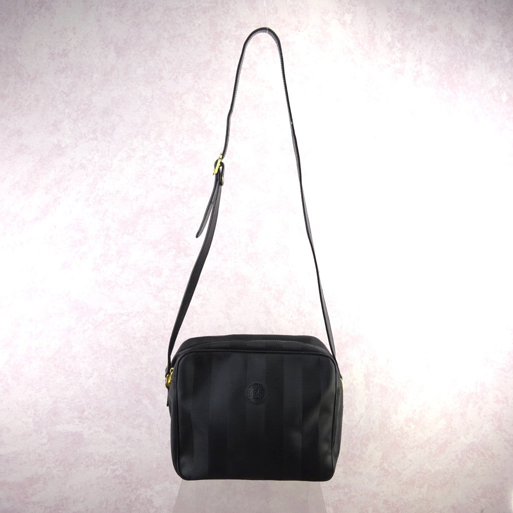 Vintage 90s FENDI Textured Vinyl Large Shoulder Bag – Voguely Familiar 3c6be73e53c9e