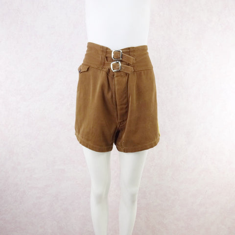 Vintage 50s KORET Cotton Plaid Shorts, New With Tags