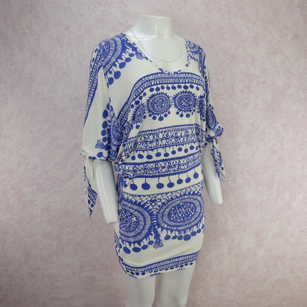2000s RACHEL PALLY Medallion Print Stretch Dress, NOS