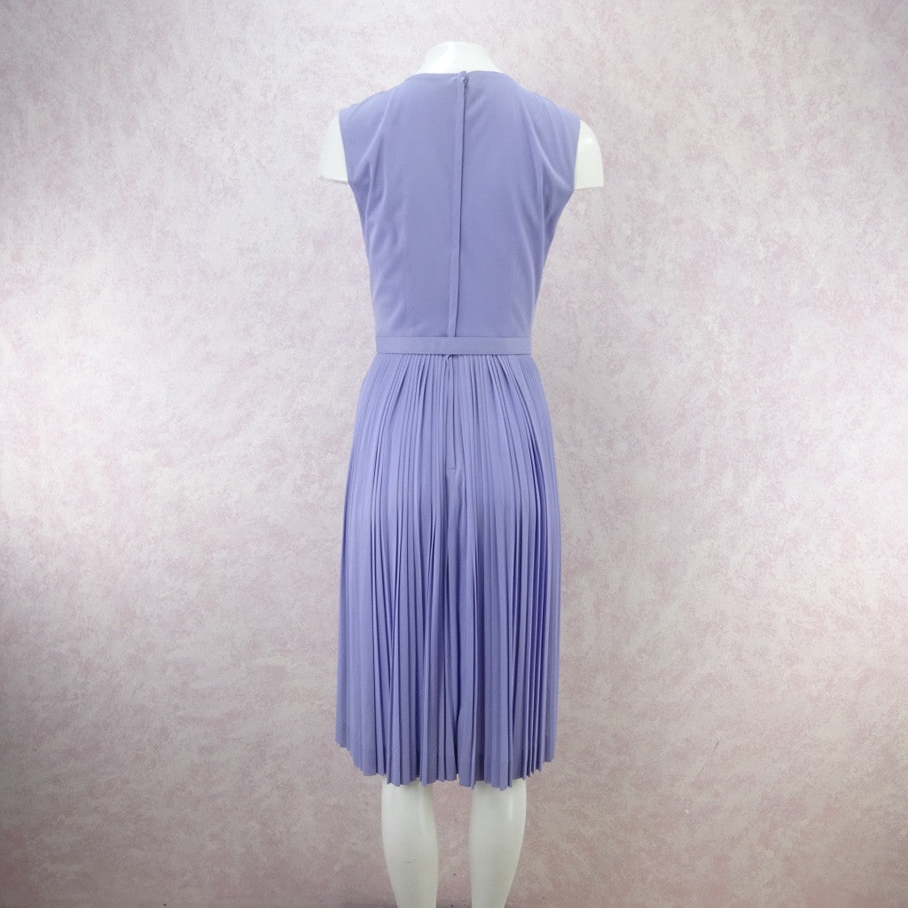 Vintage 60s Lavender Fit & Pleated Flair Dress vfddd