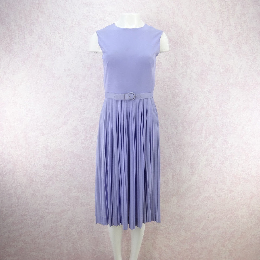 Vintage 60s Lavender Fit & Pleated Flair Dress