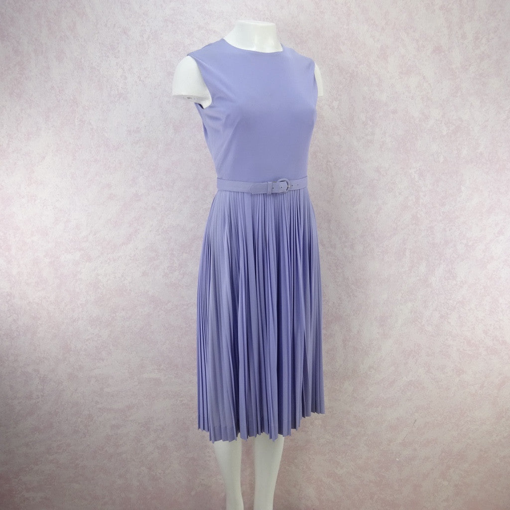 Vintage 60s Lavender Fit & Pleated Flair Dress g