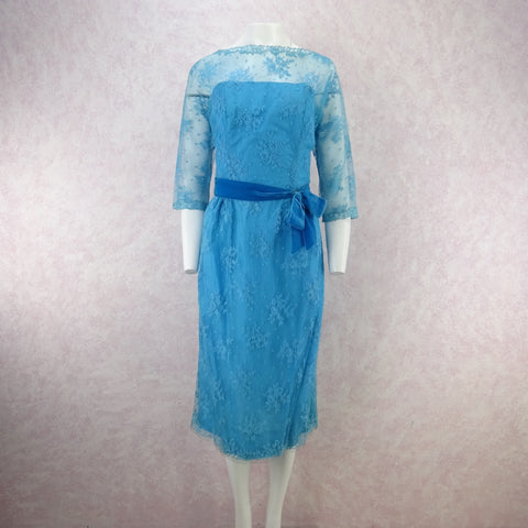 Vintage 60s Taffeta & Velvet Fit & Flair Dress