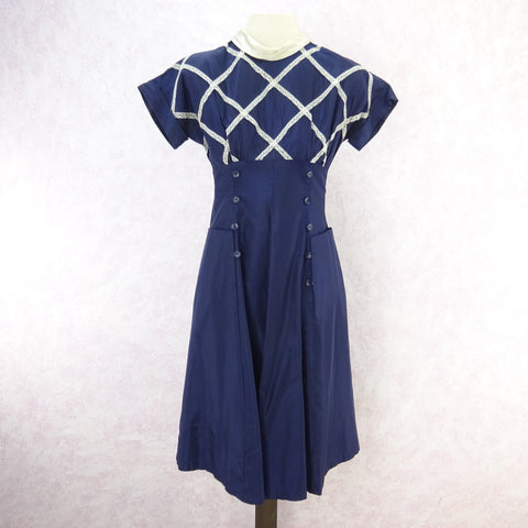 Vintage 90s KRIZIA Navy Open Weave Tank, New Old