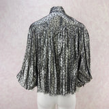 Vintage 80s Lurex Blouse w/Full Sleeves bfdd