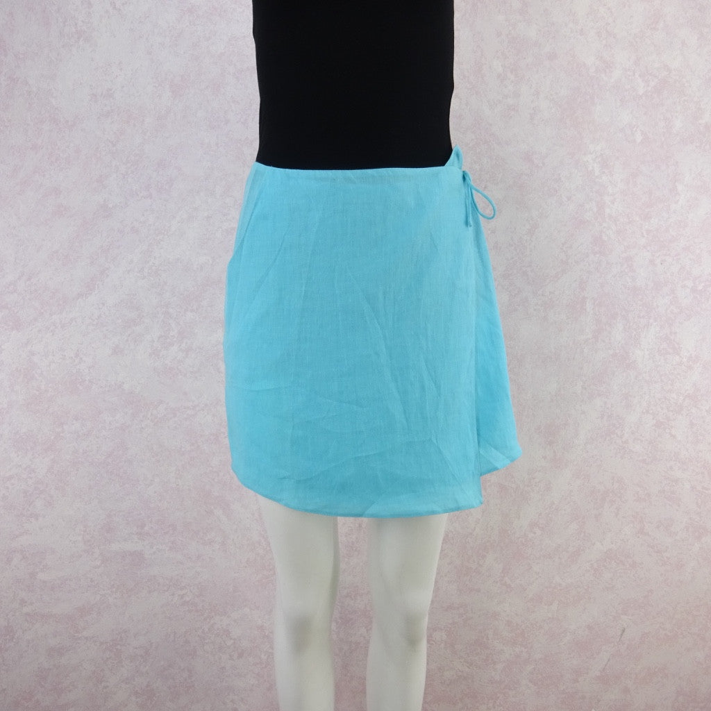 Vintage 90s KRIZIA Linen Wrap Skirt, New With Tags
