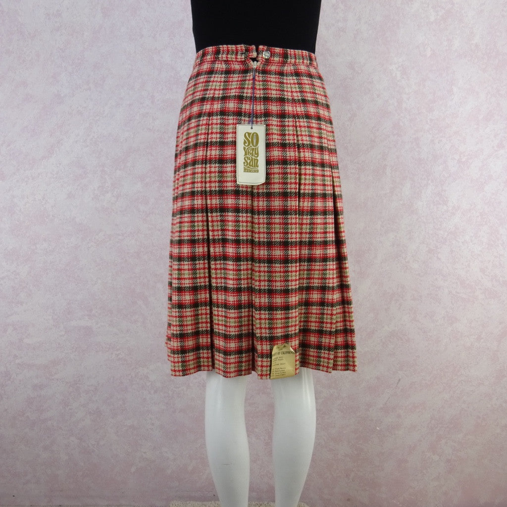 Vintage 60s KORET Wool Pleated Skirt, New With Tags vd