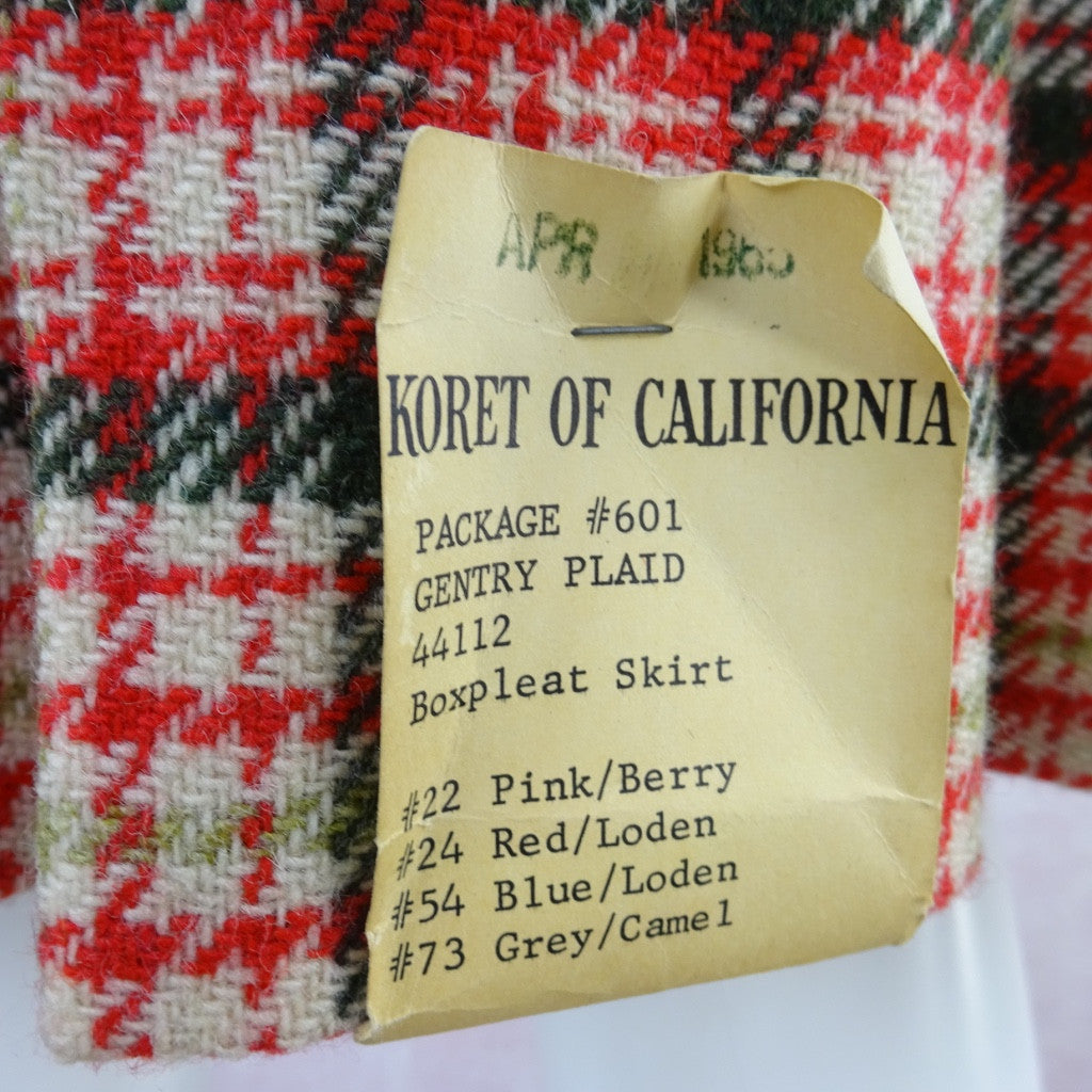 Vintage 60s KORET Wool Pleated Skirt, New With Tags bgdf