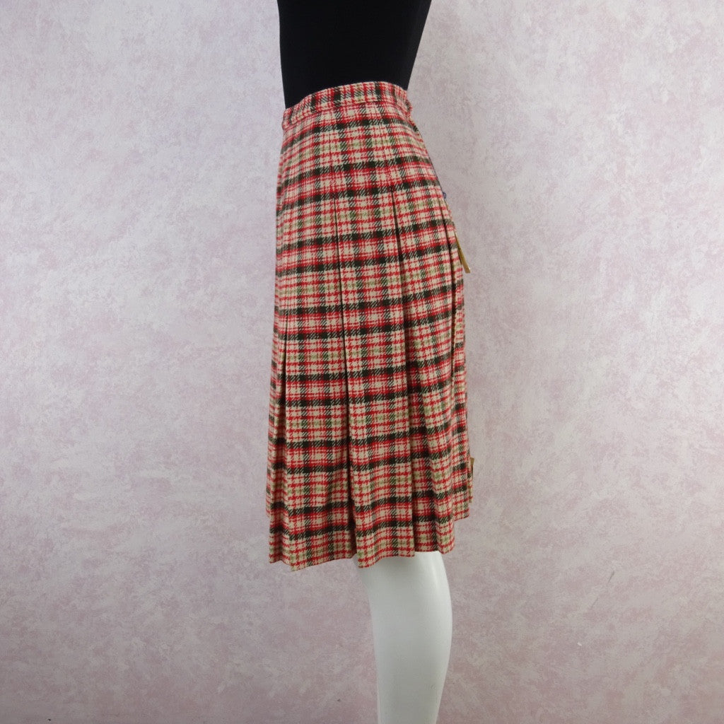 Vintage 60s KORET Wool Pleated Skirt, New With Tags gf