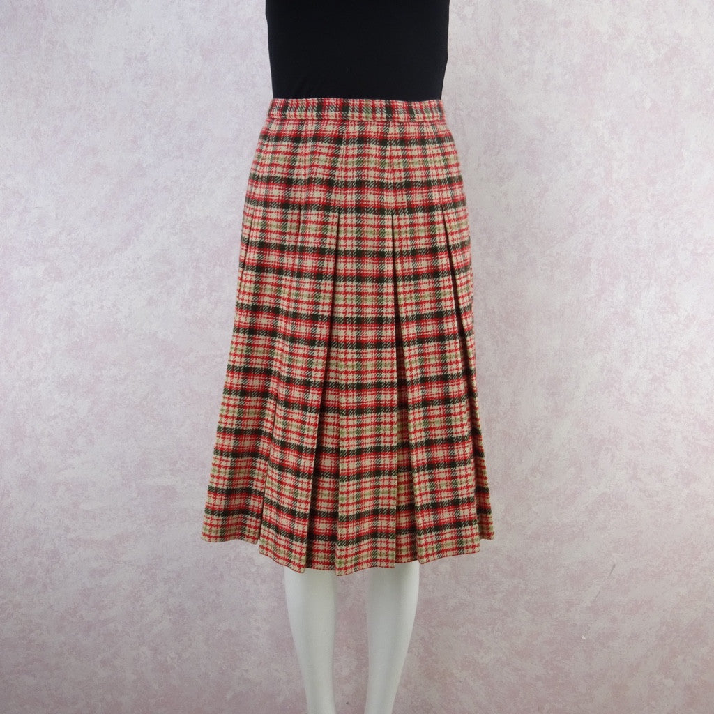 Vintage 60s KORET Wool Pleated Skirt, New With Tags