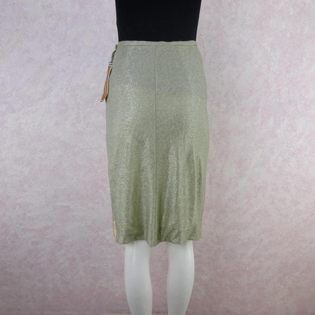 Vintage 60s Lurex Knit Straight Skirt, New With Tags