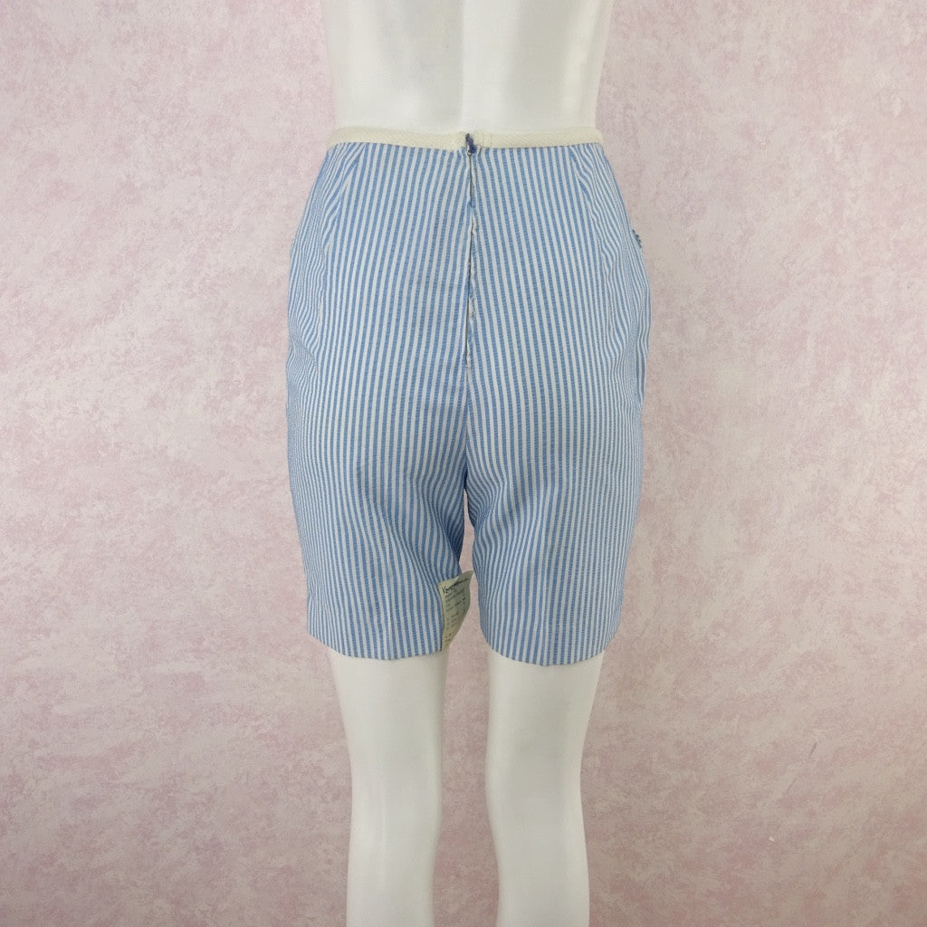 Vintage 50s KORET Striped Seersucker Shorts, NWT lk