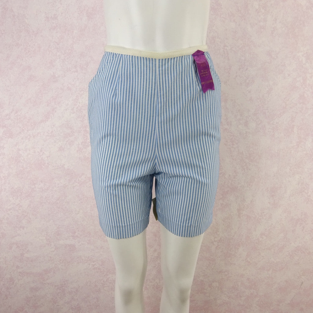 Vintage 50s KORET Striped Seersucker Shorts, NWT