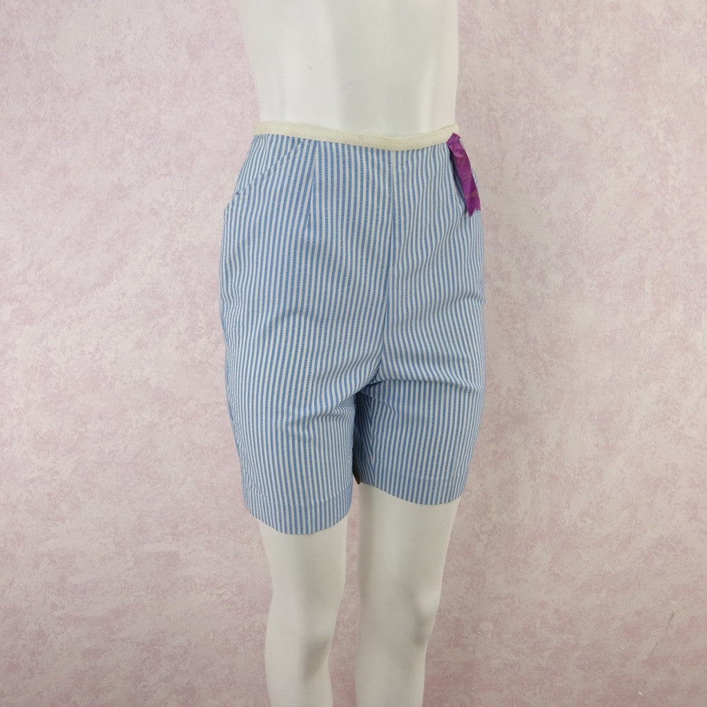 Vintage 50s KORET Striped Seersucker Shorts, NWT  gfd
