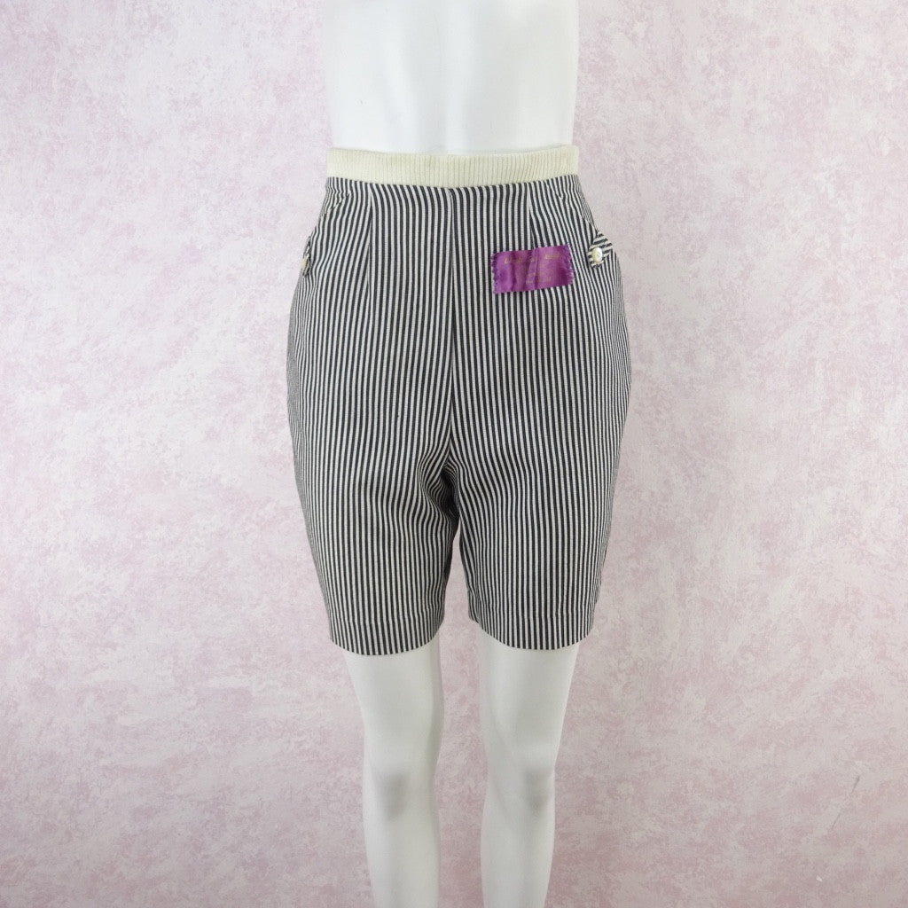Vintage 50s KORET Striped Cotton Seersucker Shorts, NWT
