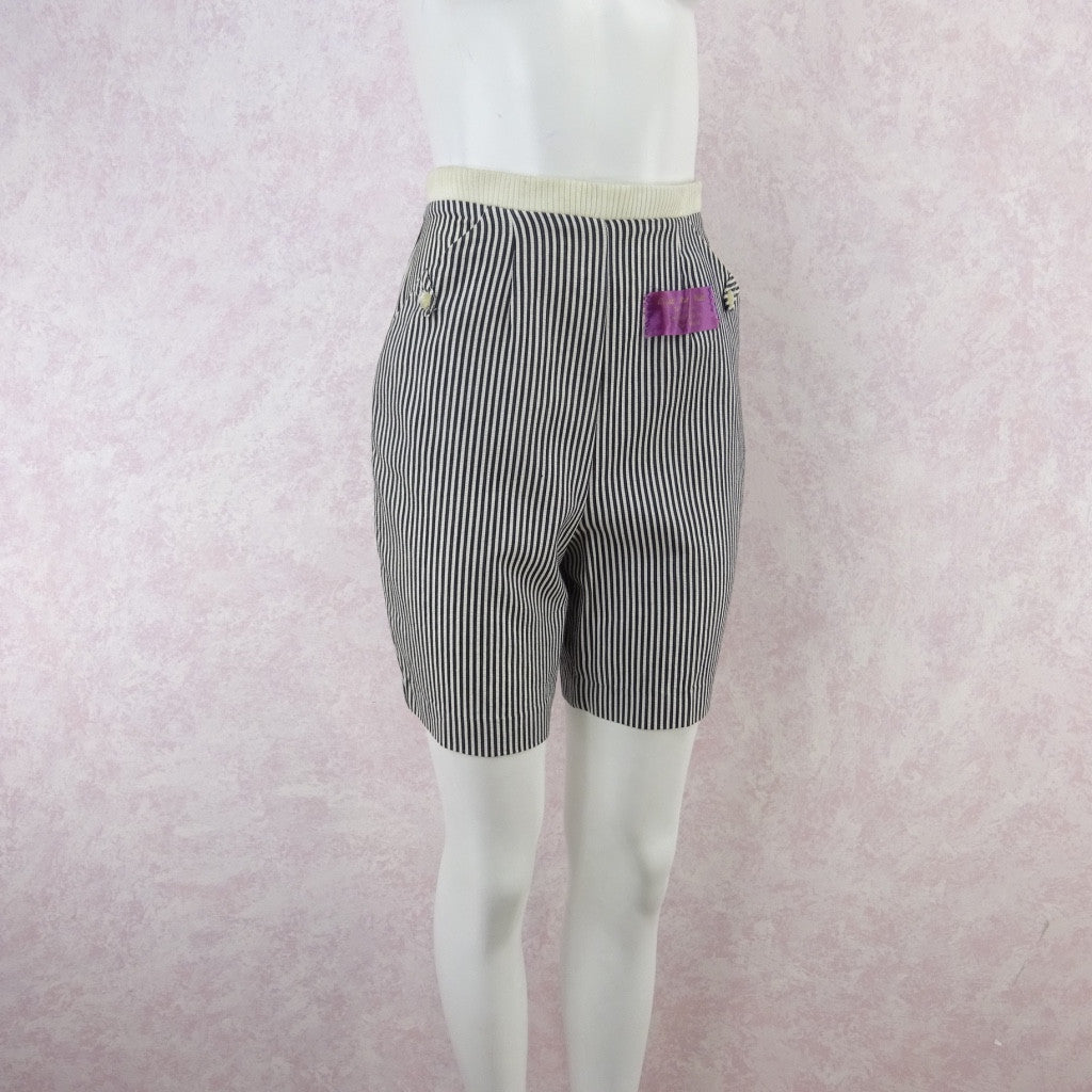 Vintage 50s KORET Striped Cotton Seersucker Shorts, NWT kjh