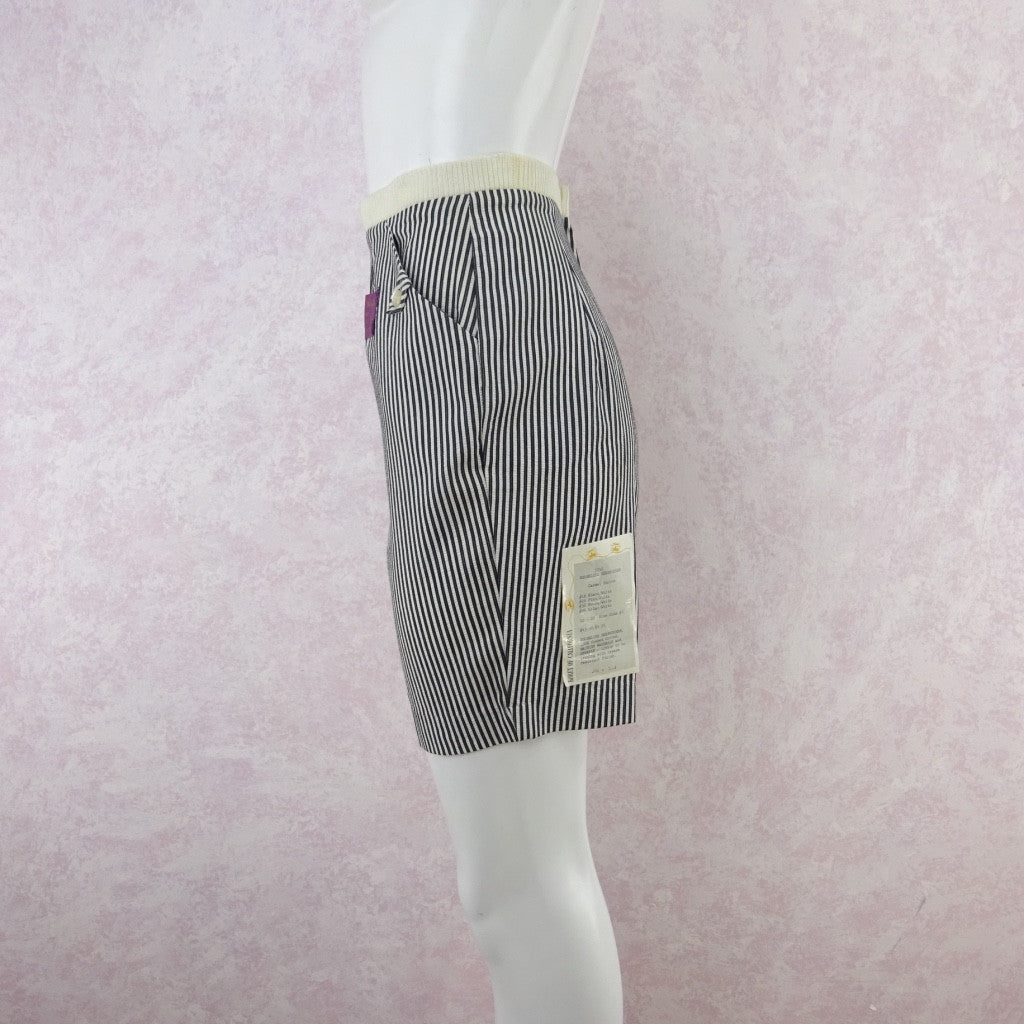 Vintage 50s KORET Striped Cotton Seersucker Shorts, NWT fev