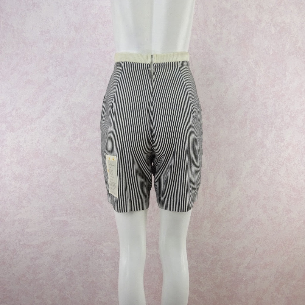 Vintage 50s KORET Striped Cotton Seersucker Shorts, NWT trgvfecd