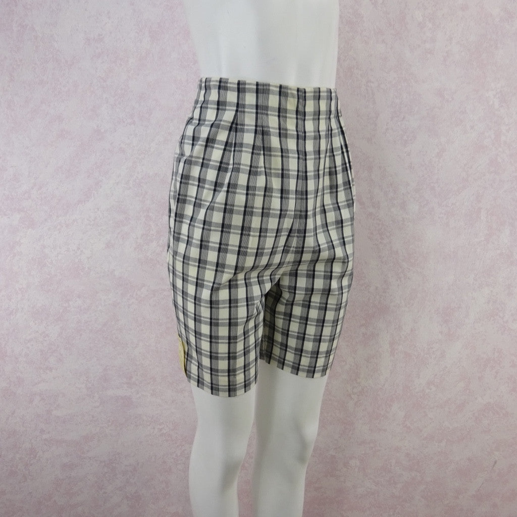 Vintage 50s KORET Cotton Plaid Shorts, New With Tags bgfd