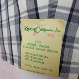Vintage 50s KORET Cotton Plaid Shorts, New With Tags bgfds