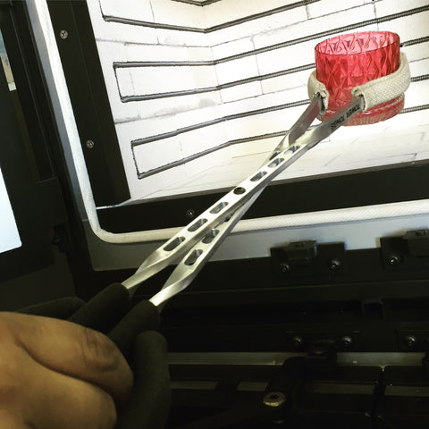 Loading Tongs for Glassblowing.