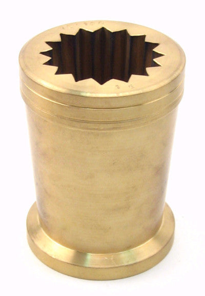 Imported Italian 16 point Rigadin molds also known as optic molds, made of cast bronze, these are used for creating optic twists, and rib patterns.